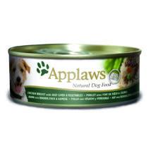 Applaws Dog Konzerv Csirke, marhamáj és zöldség 156g