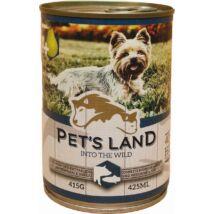 Pet s Land Dog Konzerv Sertés-Hal körtével 415g