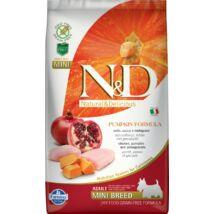 N&D Dog Grain Free csirke&gránátalma sütőtökkel adult mini 2,5kg