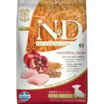 N&D Dog Low Grain Csirke&gránátalma Puppy Mini 7kg