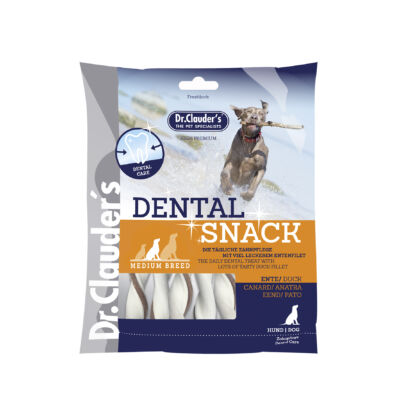 Dr.Clauders Jutalomfalat Dental Snack Kacsa Medium Breed 170g